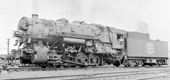 Indiana Harbor Belt 3 cylinder 0-8-0 steam locomotive switcher # 100 in 1950.
