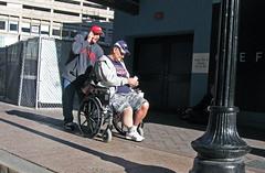 BostonFriendlyPush (fotosqrrl) Tags: urban boston massachusetts wheelchair streetphotography cellphone washingtonstreet filenes