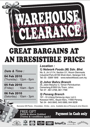 04 - 06 Feb: Network Foods Warehouse Clearance