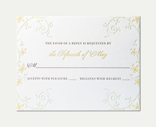 SC&MM Wedding RSVP Card