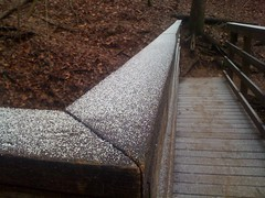 Snow on the Rail