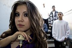 Pimp Girl :) (esafirmehyna.com) Tags: blackandwhite fence purple cholos longhair monica flannel sunnyside gangsta pinup gangs pasco chola gangstas bgl pelon cholas f13 surenos pelones lokotes dollymenace firme509comstudios