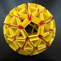 Snub Dodecahedron (! Polyhedra !) Tags: geometric make yellow paper origami geometry orb sphere math mathematics papiroflexia dodecahedron globo kugel polyhedron papermodel poliedro polyhedra modularorigami matemáticas kusudama dodecaedro geometría unitorigami cotcmostinteresting archimedean polyhedral geometricalart snapology geometricsculpture heinzstrobl mathematicalmodel dodecahedra mathematicalmodels