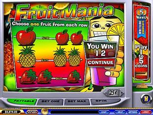 free FruitMania bonus feature