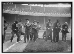 Photographers - Polo Grounds  (LOC) (The Library of Congress) Tags: newyorkcity al baseball hats photographers cameras libraryofcongress nl graflex worldseries mlb cameramen americanleague pologrounds nationalleague majorleaguebaseball newyorkgiants reflexcamera philadelphiaas graflexslr xmlns:dc=httppurlorgdcelements11 photographerinthepicture newyorkbaseballgiants decimononicas brushstadium 1913worldseries dc:identifier=httphdllocgovlocpnpggbain14456 worldseriesofbaseball philadephiaathletics