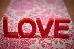 Love letters (Zoë Power) Tags: red love letters valentine 50mmf14 damask