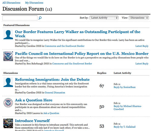 Discussion Forum - Our Border