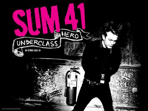 sum 41 wallpaper. Sum 41 - Underclass Hero