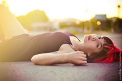 sunburn (S! ) Tags: sunset sun girl vintage 50mm nikon warm tattoos su ait sunna d90