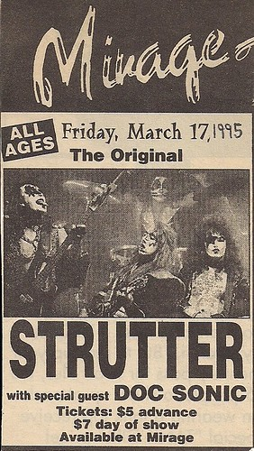 03/17/95 Strutter @ Minneapolis, MN (Ad)