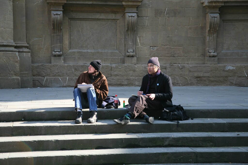 Artists in Piazza San Firenze
