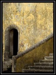 Once upon a time........... (ubichan - Away A LOT :o() Tags: portugal stone geotagged sony sintra steps unescoworldheritagesite unesco worldheritagesite textures doorway ochre moonmountain penanationalpalace ip9 serradesintra palcionacionaldapena hm3 ip3 realmagic so3 mountainofthemoon sonydsch9 ilustrarportugal ilustrarportugalsrieouro srieouro historyantiquities ip6 ubichan umbralaward so9 so12 geo:lat=38787713 europeanromanticism oneofthesevenwondersofportugal montedaluapatrimniomundial montedeluamontedelua historymysterysociety geo:lon=9390687 vermeerpearls hmcorinthian details10faves bestofvermeerpearls hm~ionicaward halloffameadinvite