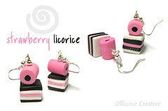 Strawberry licorice (OfficineCreative) Tags: strawberry candy sweet handmade bijoux polymerclay fimo accessories earrings colourful liquorice licorice allsorts fragola cernit caramelle liquirizie orecchini assortite officinecreative