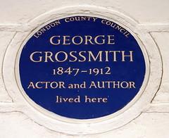 Photo of George Grossmith blue plaque
