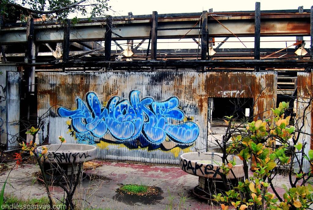 AWOKE Graffiti Piece Alameda, CA.