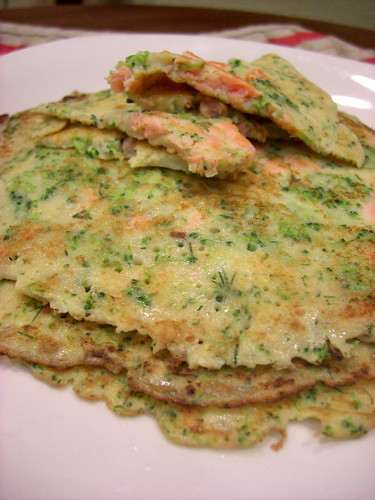 crepes with broccoli