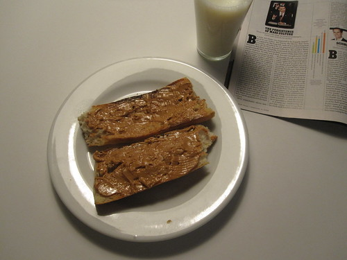 Toasted and baguette, milk