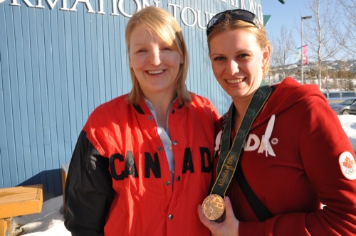 Me and Christine Larsen and her silver medal