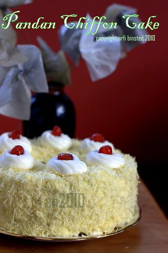 Pandan Chiffon Cake by ab2010