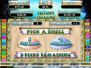free Triton's Treasure slot bonus game