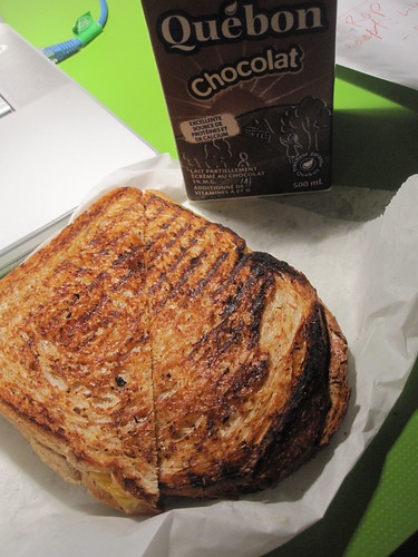 Grilled cheese and chocolate milk from pasta Café - $5