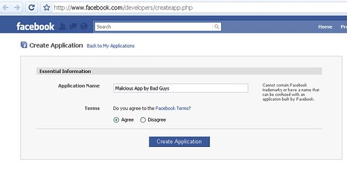 malicious facebook app