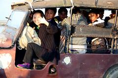 Tuk tuk in the port of Dibrugarh, Assam (sensaos) Tags: people india river boat milk asia north transport east holy assam northeast noord oost azi rivier heilige brahmaputra