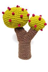 double tree (callie callie jump jump) Tags: tree art vermont handmade crochet fiber amigurumi freeform urbanfarmgirl