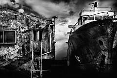 Nobody's left nobody's came back (Effe.Effe) Tags: bw monochrome neglect rust ship bn ruggine ef50mmf18 bwdreams abandonedshipyard portosenigallia cantierenavaleabbandonato mareeterra navemaifinita