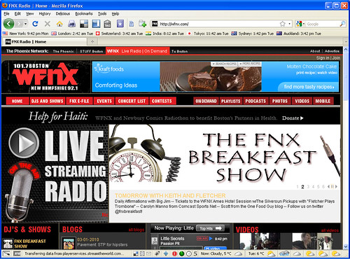 One Food Guy on WFNX Breakfast Show