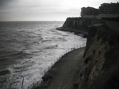 High Tide but still the waves roll and they were rough (CJFIZZ home and happy.) Tags: sea kent cliffs esplanade broadstairs vikingbay roughwater