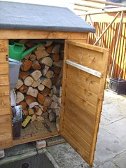 Near-full woodshed