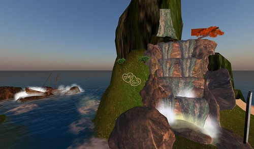 cocoa beach waterfalls in second life