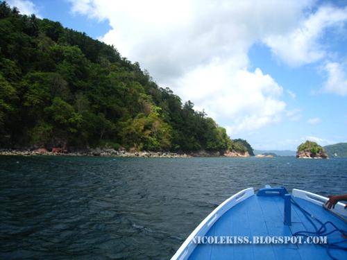 boat out at lembeh