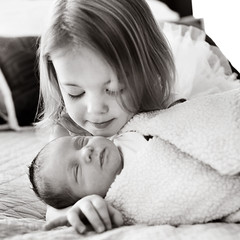 sisterhood (bethe1) Tags: girls baby canon newborn 5d