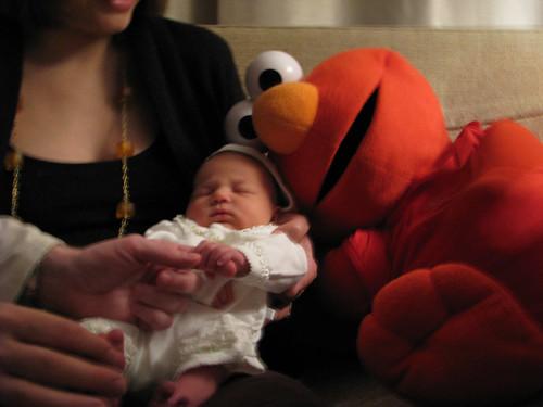 baby + elmo = sweet