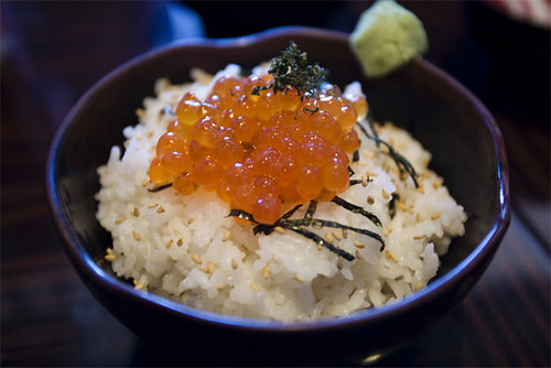 Fish roe over rice