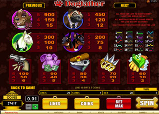 free Dogfather slot mini symbol