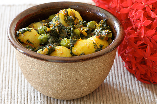 East Indian Spinach, Potatoes & Peas