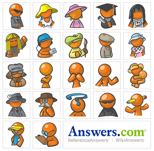 Answers.com Orange people avatars