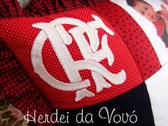 Mengoo!!! (Herdei da Vov) Tags: foto artesanato craft pillow patch patchwork almofada flamengo manualidades tecido crf costura
