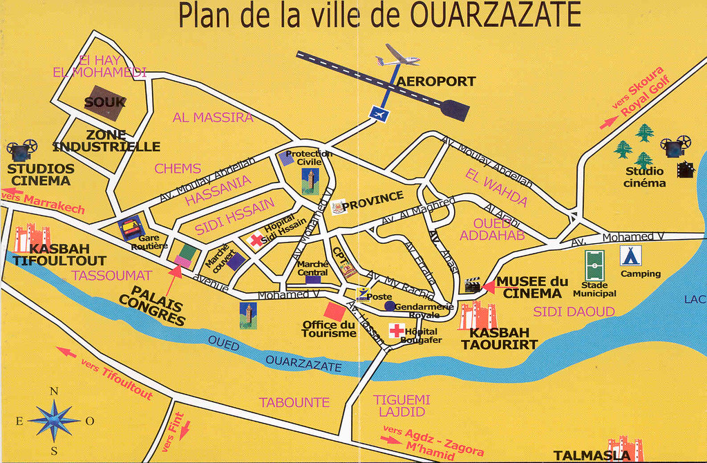 mapa ouarzazate