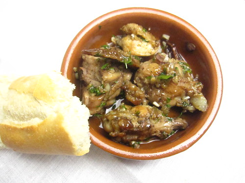 Pollo al Ajillo - Chicken in Garlic-Brandy Sauce