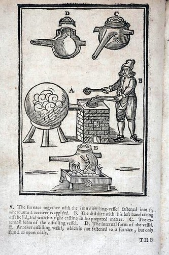A description of new philosophical furnaces: or, A new art of distilling, divided into five parts (1651)