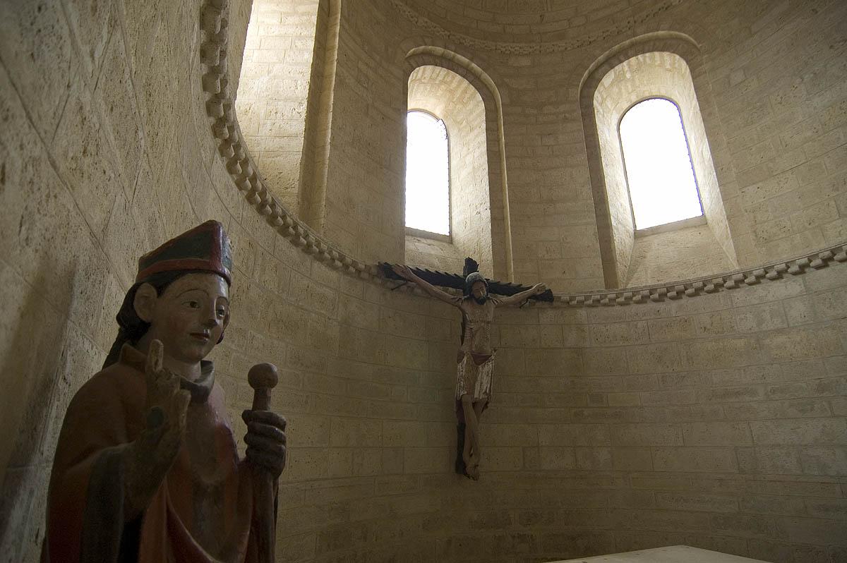 Esculturas de altar de San Martín de Tours, en Frómista