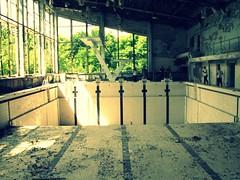 Swimming pool in the abandoned city. Pripyat' / Chernobyl, Ukraine (Daniel Kliza) Tags: city plant abandoned power nuclear ukraine powerplant zona zone reactor iaea chernobyl abandonedcity thezone pripyat