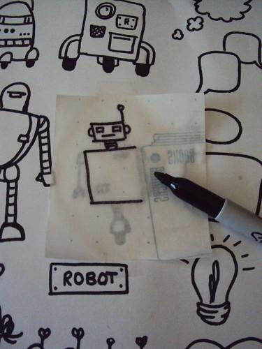 Robots vinyl stickers 2
