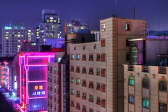 Hotel Cinema (Travis-Allen) Tags: city cinema hot reflection window glass skyline night movie lights neon allen motel korea busy korean seoul travis southkorea lovemotel travisallen seoulnationaluniversity bongcheondong hotelcinema