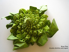 Origami Romanesco (Chosetec) Tags: sculpture green geometric paper origami geometry craft vegetable fractal folded romanesco oragami