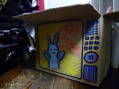 Caixa de papelão desenhada
